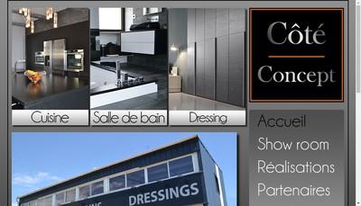 Site internet de Cote Concept