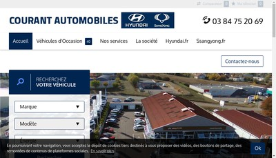 Site internet de Courant Automobiles