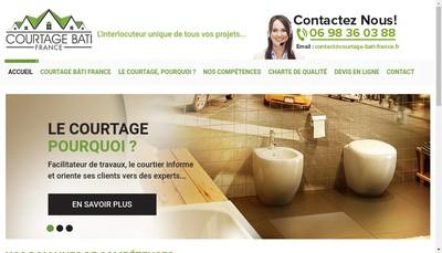 Site internet de Courtage Bati France