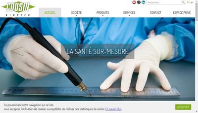 Site internet de Cousin Medical Group