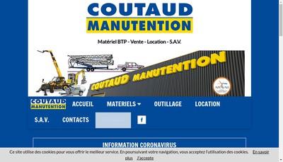 Site internet de Coutaud Manutention