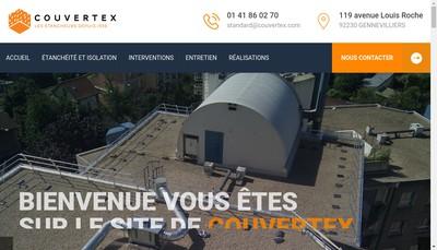 Site internet de Couvertex