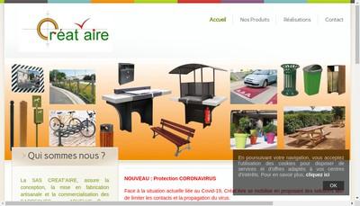 Site internet de Creat'Aire