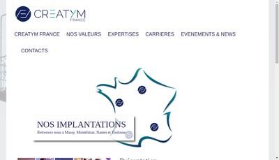 Site internet de Creatym France