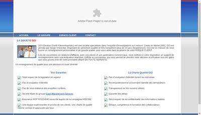 Site internet de Gestion Credit Interentreprises -Gci