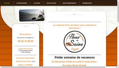 Site internet de Fleur de Seine
