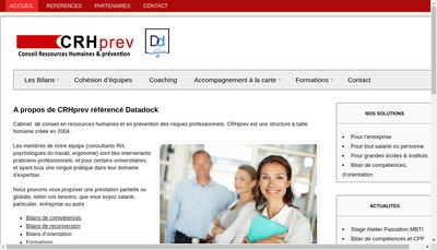 Site internet de CRH Prev