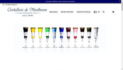 Site internet de Cristalleries de Montbronn