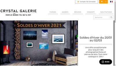 Site internet de Crystal Galerie
