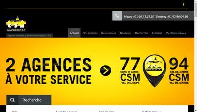 Site internet de CSM Immobilier