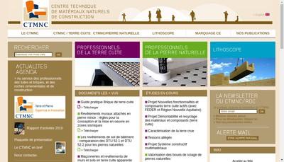 Site internet de Centre Technique de Materiaux Naturels de Construction