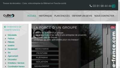 Site internet de Cube Mettey Finance