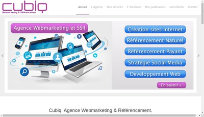 Site internet de Cubiq