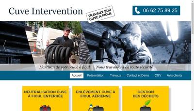 Site internet de Cuve Intervention