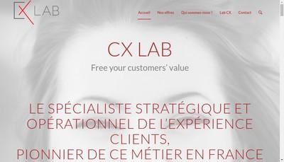 Site internet de Cx Lab