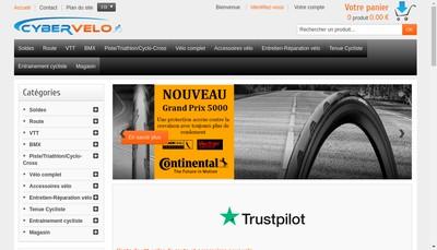 Site internet de Cyber Velo