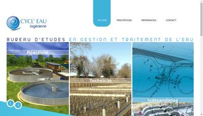 Site internet de Cycl'Eau Ingenierie