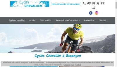 Site internet de Cycles Chevallier