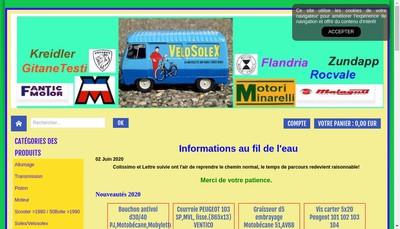 Site internet de Cyclo Diffusion + Goeland