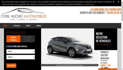 Site internet de Cyril Huchet Automobiles