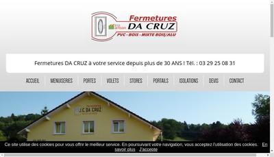 Site internet de Da Cruz Fermetures