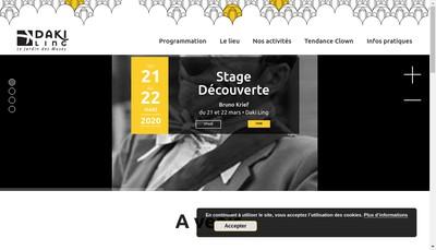 Site internet de Dakiling, le Jardin des Muses