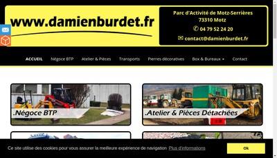 Site internet de Transports Damien Burdet