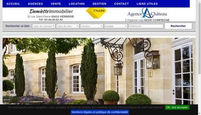 Site internet de Damiette Immobilier