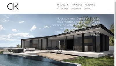 Site internet de Dank Architectes