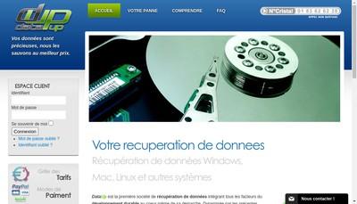 Site internet de Data Up
