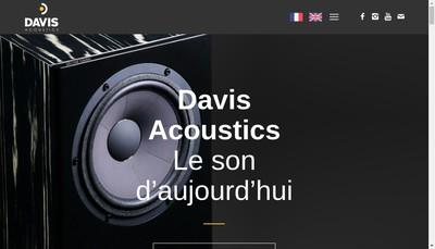 Site internet de Davis Acoustics SA