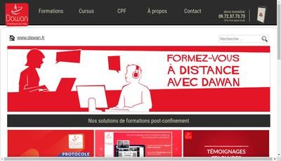 Site internet de Dawan