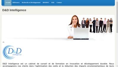 Site internet de D&d'Intelligence