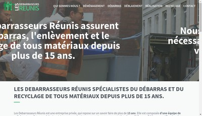 Site internet de Les Debarrasseurs Reunis