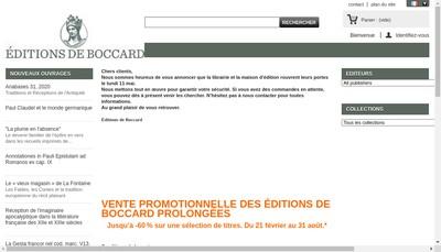 Site internet de Editions de Boccard