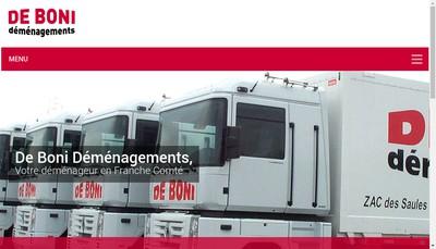 Site internet de De Boni Demenagements SAS