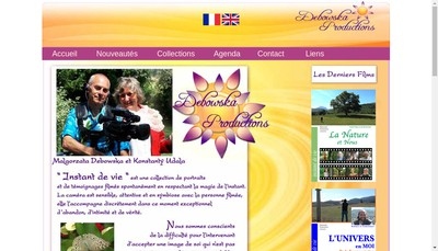 Site internet de Debowska Productions