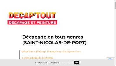 Site internet de Decap'Tout