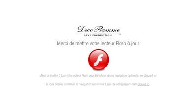 Site internet de Deco Flamme