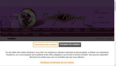 Site internet de M'Art'In Porcelaine