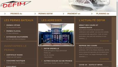Site internet de Defim SA