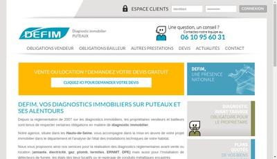 Site internet de DEFIM PUTEAUX