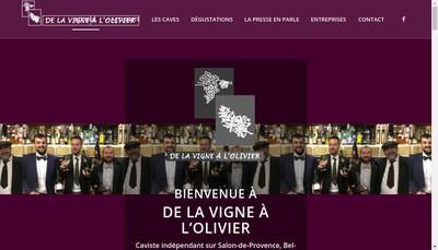 Site internet de De la Vigne a l'Olivier