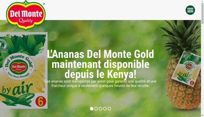 Site internet de Del Monte