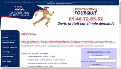 Site internet de Demenagements Fourquie