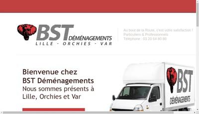 Site internet de Bst Demenagements