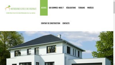 Site internet de Demeures d'Ile de France