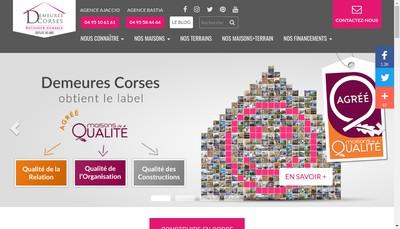 Site internet de Demeures Corses Artisanales