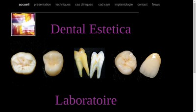 Site internet de Dental Estetica