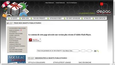 Site internet de Depac Atlantique